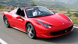 Location Ferrari F458 spyder